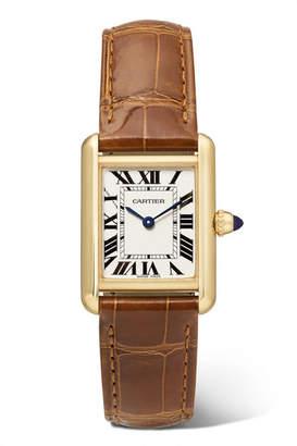 Cartier Tank Louis 22mm Small 18-karat Gold And Alligator Watch