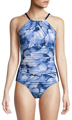 Calvin Klein High Neck One-Piece Swimsuit