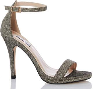 5d80a9a25b7 Dorothy Perkins Womens  Quiz Bronze Shimmer Heeled Sandals
