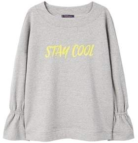 Violeta BY MANGO Flecked message sweatshirt