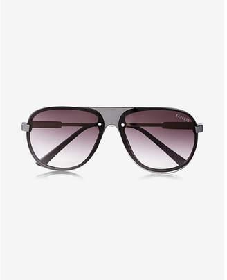 Express matte front shield sunglasses