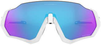 Oakley Oo9401 37 Flight Jacket White Rectangle Sunglasses