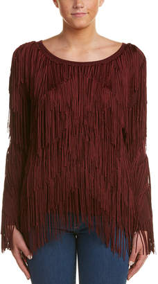 Ella Moss Layered Fringe Sweater