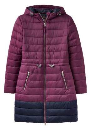 Next Womens Joules Heathcote Mid Length Colourblock Quilted Coat