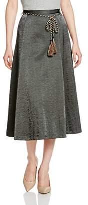 Lily Brown (リリー ブラウン) - (リリーブラウン)Lily Brown ベルト付きサテンスカート LWFS171103 9 BLK 0