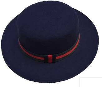 6c6d622921aa5d at Amazon Canada · Church's NE Norboe Women's Brim Fedora Wool Flat Top Hat  Derby Bowknot Cap
