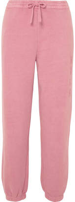Kith - Terryka Embroidered Cotton-jersey Track Pants - Blush