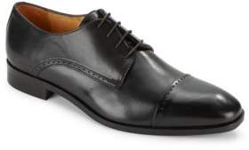Leather Cap Toe Dress Shoes