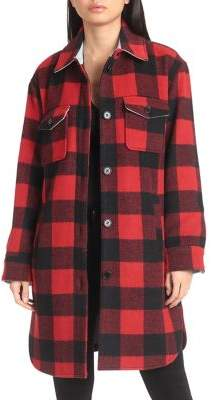 AVEC LES FILLES Buffalo Plaid Shirt Jacket