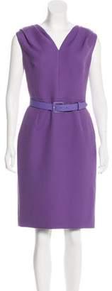 Christian Dior Virgin Wool Belted Dress