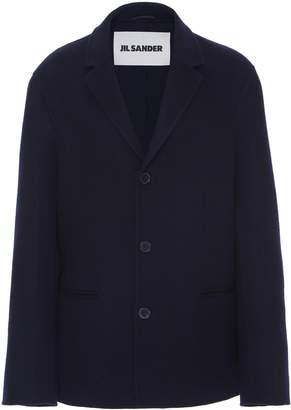 Jil Sander Leule Oversized Wool-Blend Peacoat