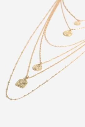 Topshop Mega Coin Layer Necklace