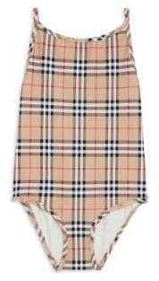 Burberry Little Girl's& Girl's One-Piece Sandie Check Swimsuit