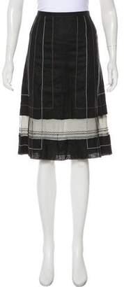 Rozae Nichols Linen Knee-Length Skirt
