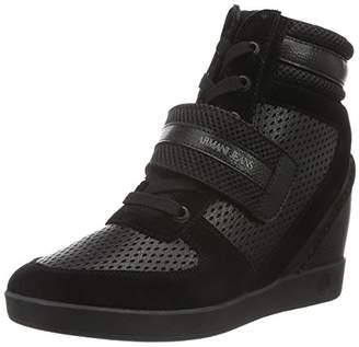 Armani Jeans Women's Wedge Fashion Sneaker