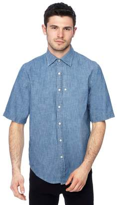 G Star G-Star - Blue Chambray Short Sleeve Straight Fit Shirt
