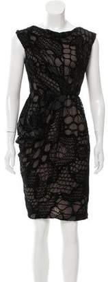 J. Mendel Devore Sleeveless Dress