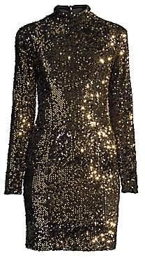 Milly Women's Long-Sleeve Sequin Dress