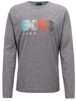 BOSS Hugo Long-sleeved T-shirt multi-colored logo graphic L Black