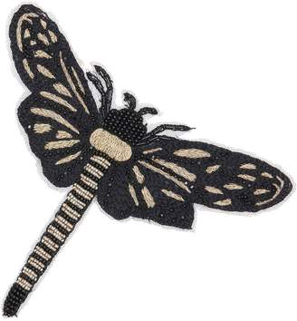 Amanda Wakeley Black & Gold Large Applique Moth