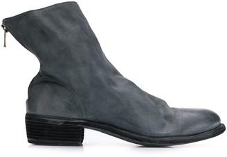 Guidi short back zip boots