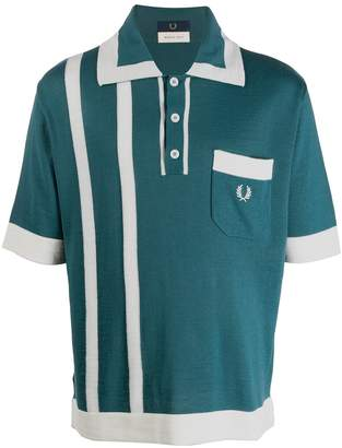 Fred Perry logo stripe polo shirt