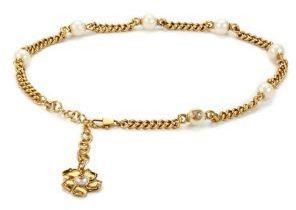 Gucci Flower & Faux-Pearl Chain Belt $795 thestylecure.com