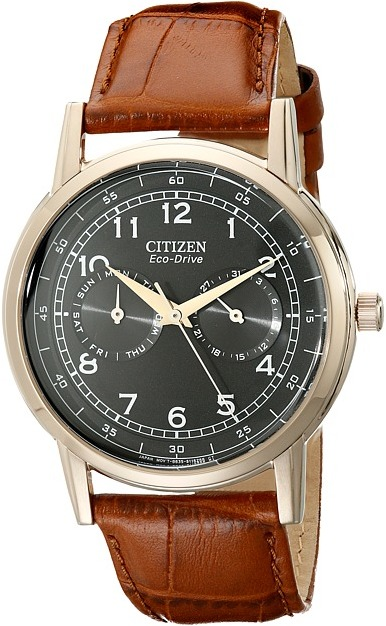 Citizen Citizen Watches - AO9003-08E Eco-Drive Rose Gold Tone Day-Date Watch Analog Watches