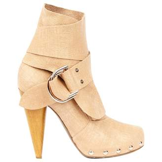 Mulberry Beige Suede Boots