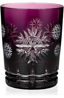 Waterford Snowflake Wishes Health Prestige Amethyst Double Old-Fashioned Glass