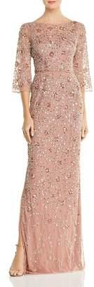 Aidan Mattox Embellished Boatneck Gown