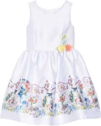 Pippa & Julie Border Print Gingham Dress