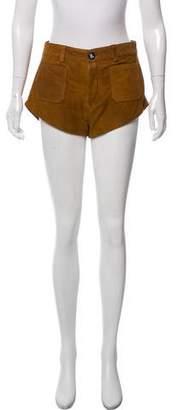 One Teaspoon Leather Mid-Rise Shorts