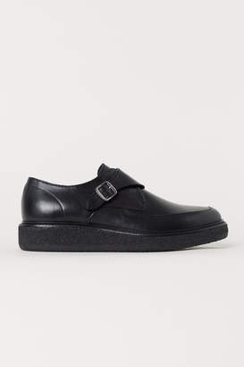 H&M Leather Monkstrap Shoes - Black
