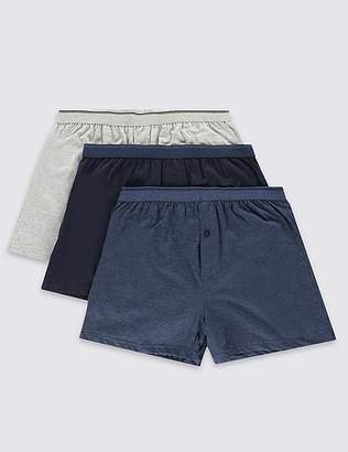 Marks and Spencer 3 Pack Cotton Jersey Boxers