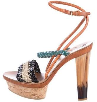 Etro Leather Platform Sandals