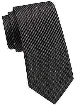 Giorgio Armani Men's Metallic Striped Silk Tie