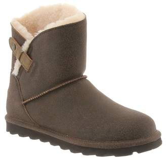 BearPaw Margaery Suede Genuine Sheepskin Footbed Boot