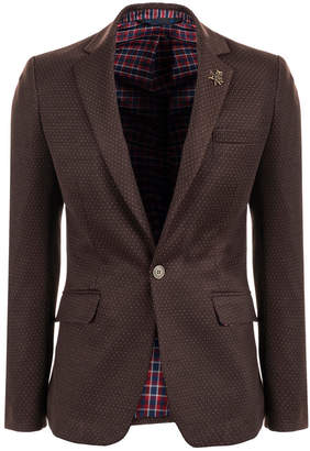 Ron Tomson Polka Dot Fitted Sportcoat