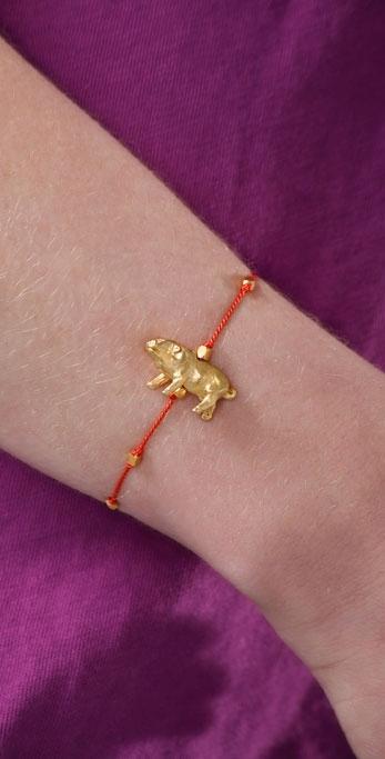 Gara Danielle Pig Charm Bracelet