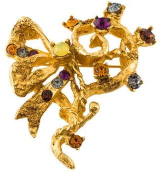 Christian Lacroix Crystal Asymmetrical Brooch