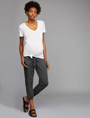 A Pea in the Pod Under Belly French Terry Back Pockets Maternity Jogger Pant