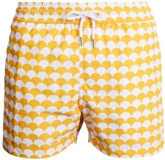 FRESCOBOL CARIOCA Sports Noronha-print swim shorts