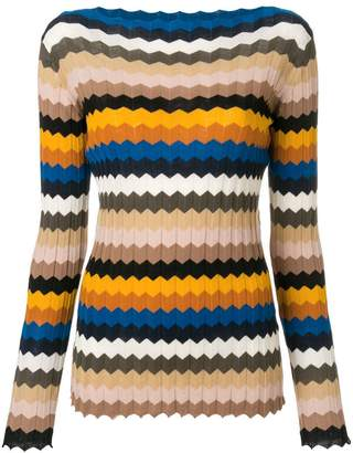 Roberto Collina striped fitted sweater