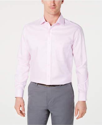 Tasso Elba Men Slim-Fit Non-Iron Supima Small Herringbone French Cuff Dress Shirt