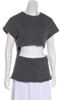 Cushnie et Ochs Cutout Short Sleeve Top