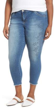 Wit & Wisdom Embroidered Seamless Ankle Skimmer Jeans