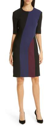 BOSS Delivia Colorblock Sheath Dress