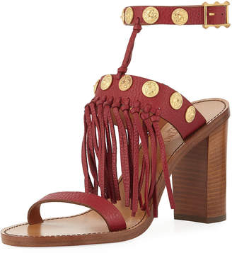 Valentino Fringed Leather Sandals