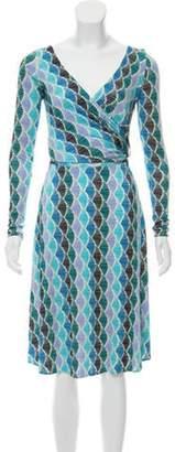 Issa Silk Knee-Length Dress blue Silk Knee-Length Dress